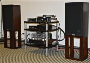 old set up with tube 845 amplifiers