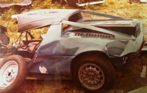 Maserati damaged