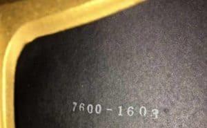 seriel number
