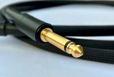 Guitar cable results close up Mon 1/4 jack
