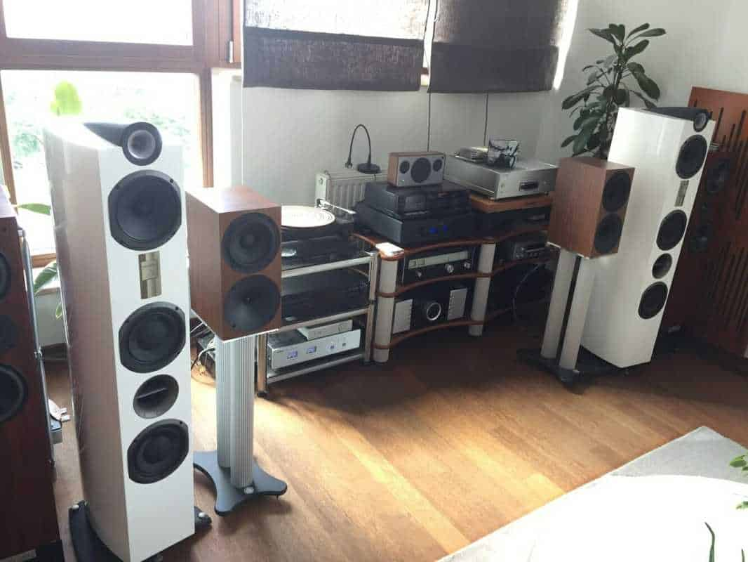 Audio system set up TEST SYSTEM