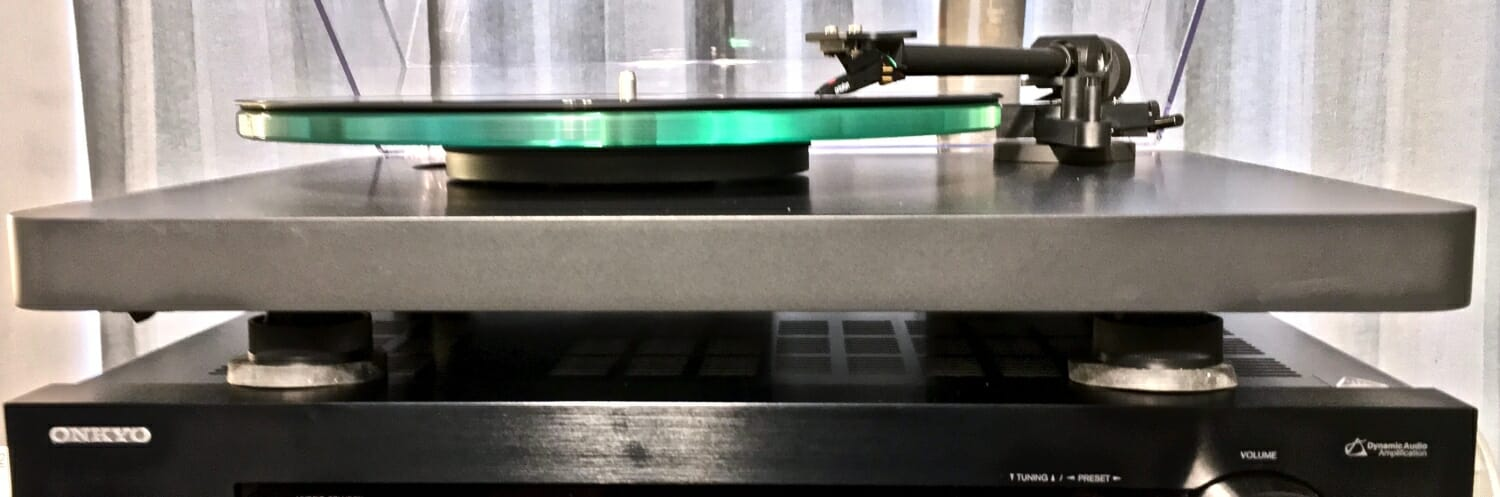 VibaPads under turntable