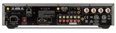 Amplifier rear view