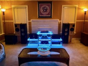 Open baffle is great with Matrix S audiophile cables Audio system set-up